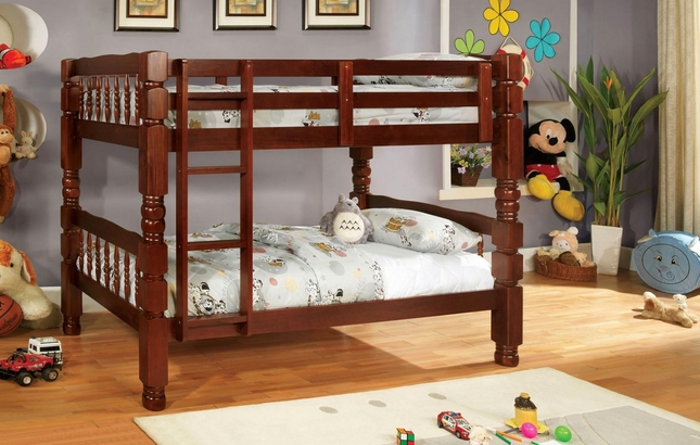 Carolina Cherry Bunk Bed with Bold and Sturdy Design