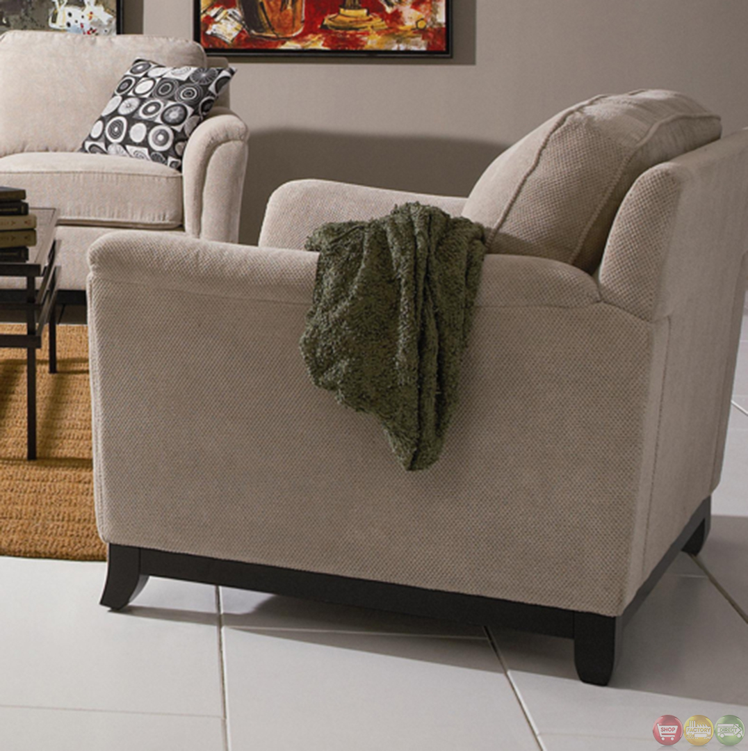 Living Room Fabric Sofas: Carver Chenille Fabric Living Room Sofa And Loveseat Set