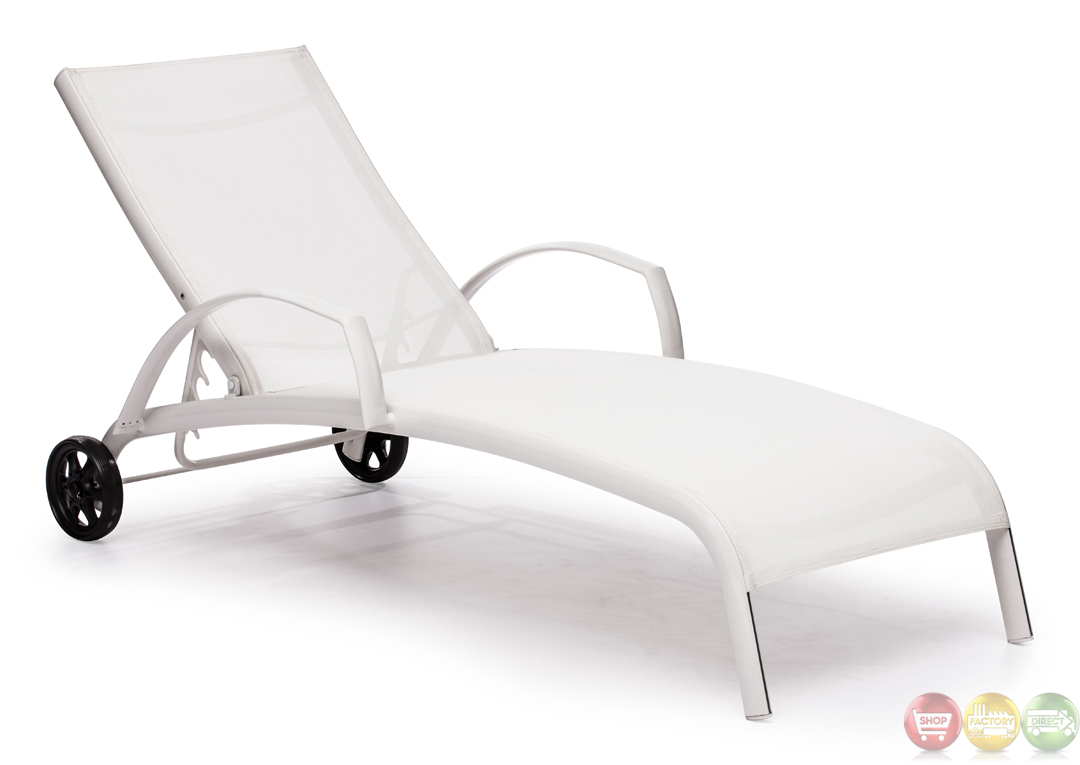 Casam White Chaise Lounge Zuo Modern Modern Outdoor Furniture Free Shi
