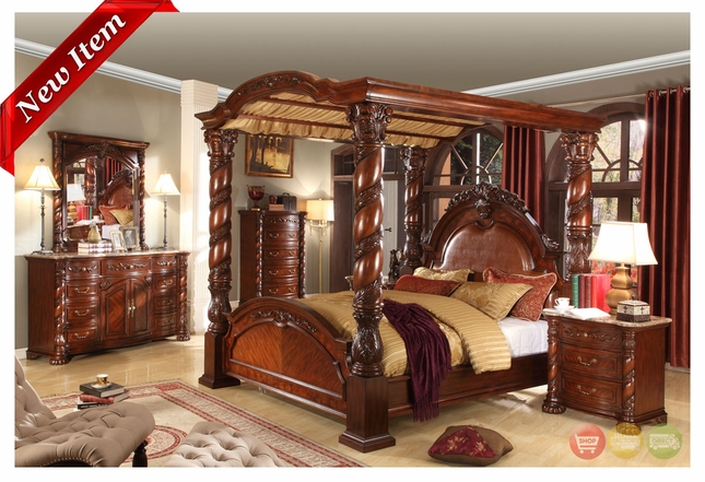 Castillo De Cullera Canopy Bedroom Collection Cherry