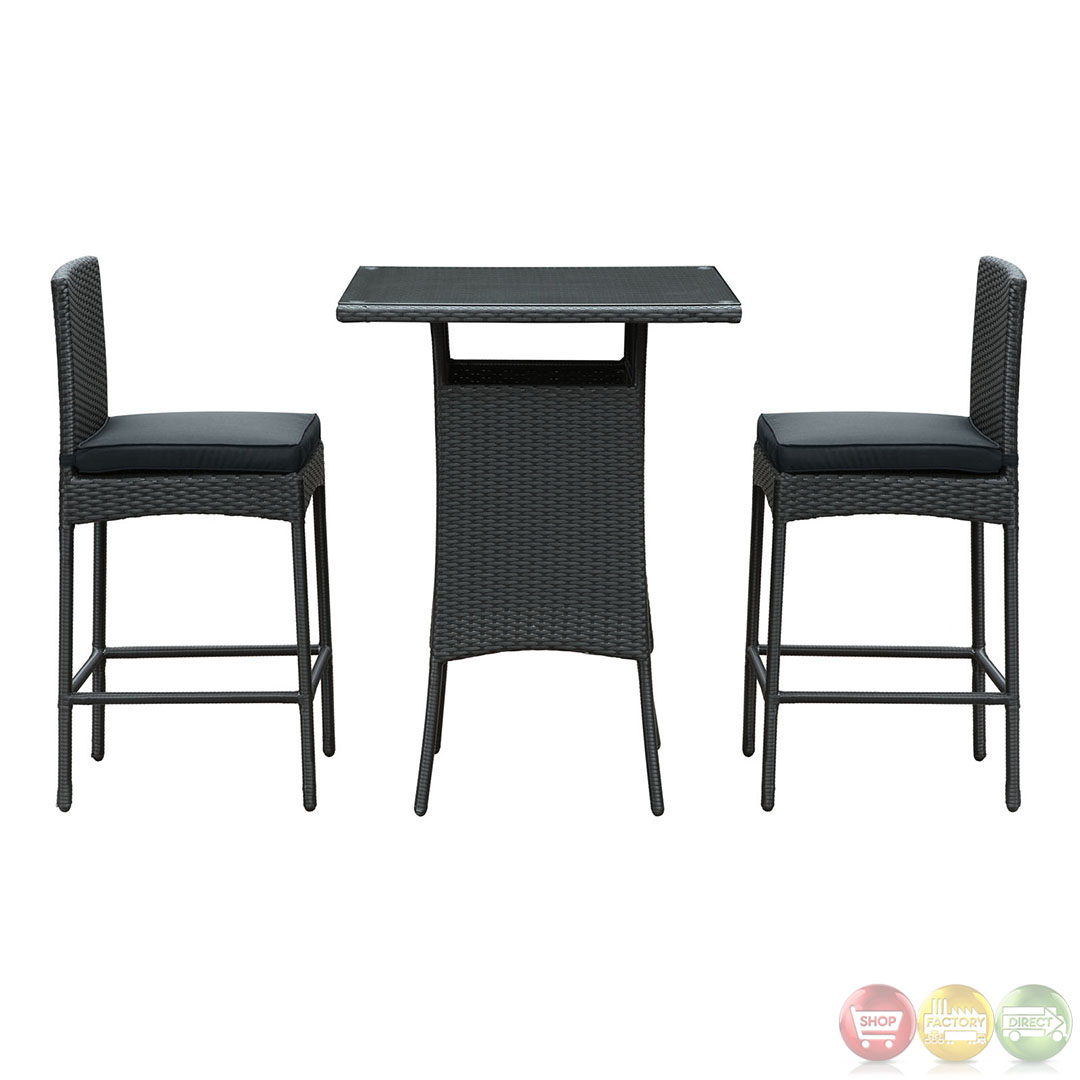Modern Bar Tables And Chairs : Cerveza Contemporary Modern Pub Table and Two Chair Set EEI-835
