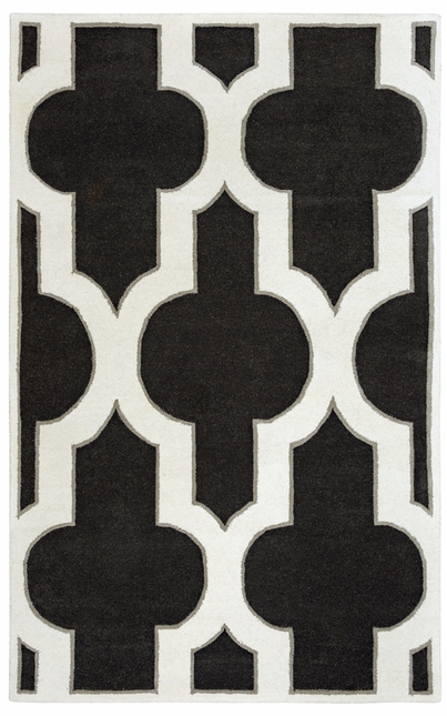 Rizzy Rugs Charcoal Transitional Hand Tufted Area Rug Volare VO8186