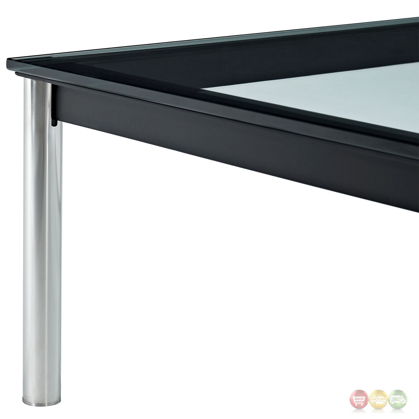 "Charles Modern 47"" Rectangle Glass Top Coffee Table W"