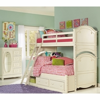 Charlotte Traditional Antique White Twin over Twin Size Kid's Bunk Bed