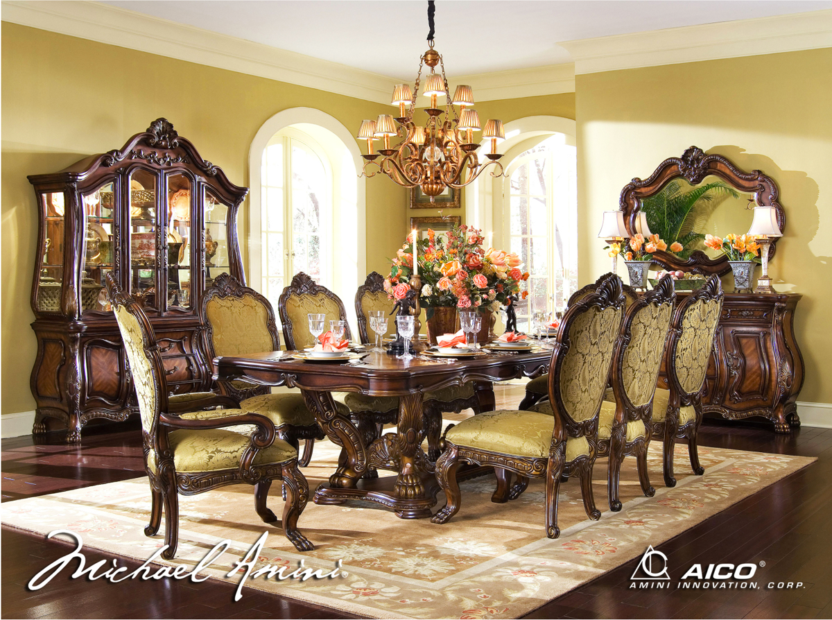 ... Chateau Beauvais Formal Dining Room Set Noble Bark Finish by AICO