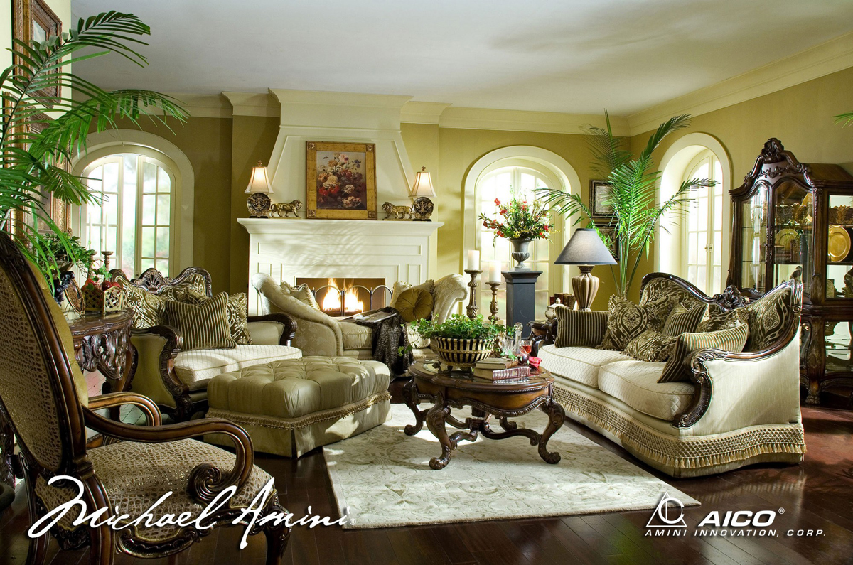 Michael Amini Chateau Beauvais Luxury Traditional Formal Living Room Furniture Set by AICO