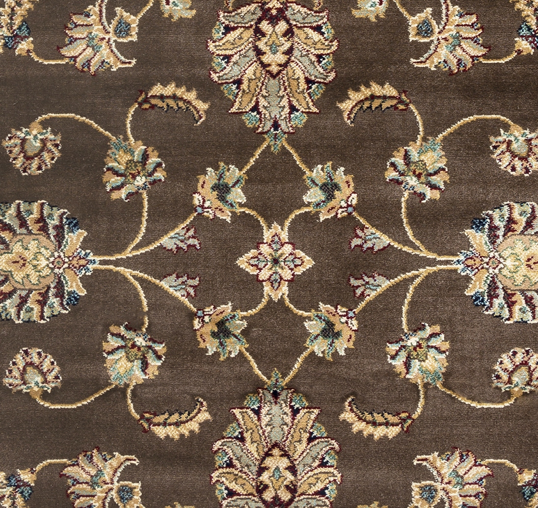 Chateau Traditional Border Area Rug In Brown Amp Ivory 6 7