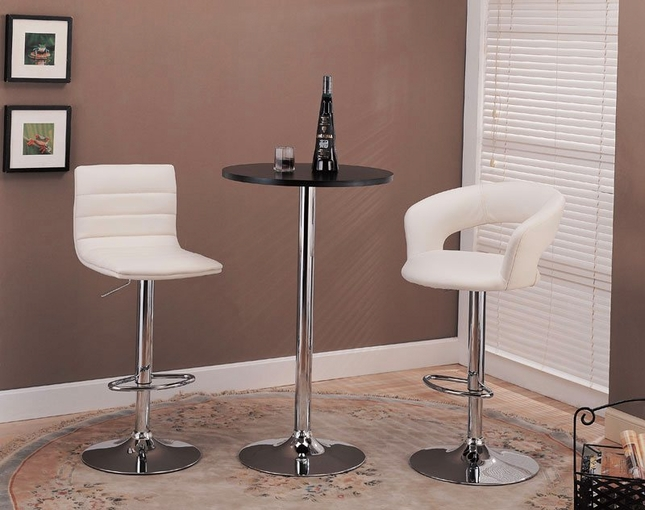 Chrome Finish 29 Inch Adjustable Height Bar Stool
