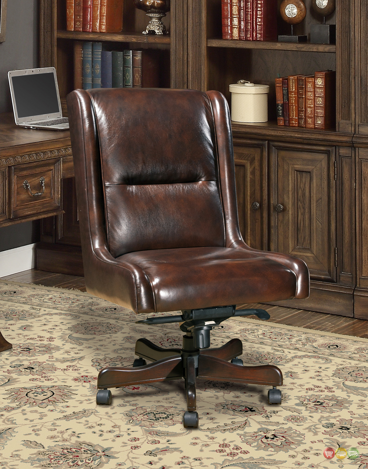 Armless Leather Desk Chair Black Leather Conference  : cigar brown genuine leather armless desk chair traditional office furniture dc 108 ci 3 from mermaidsofthelake.com size 1177 x 1500 jpeg 1637kB