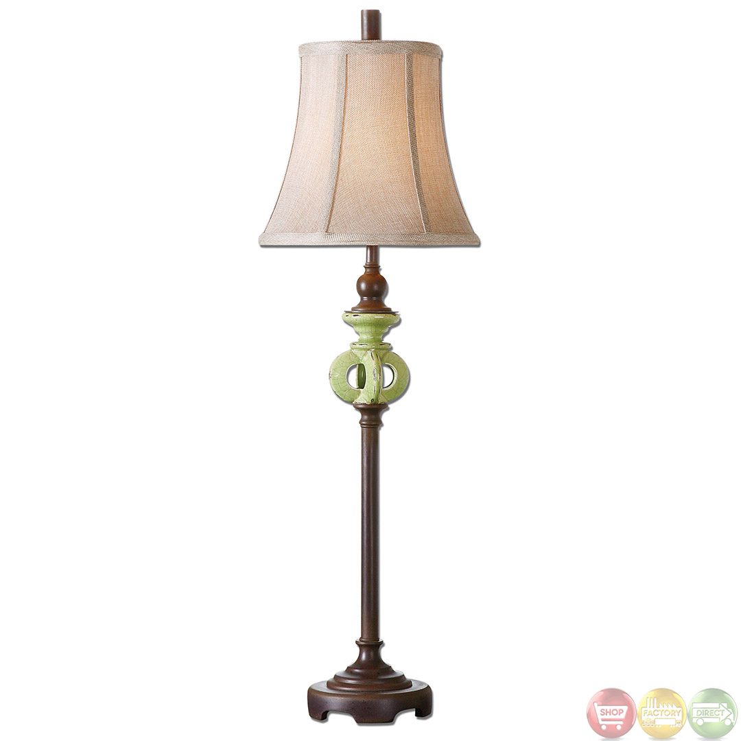 Civita Chocolate Bronze Buffet Lamp 29930