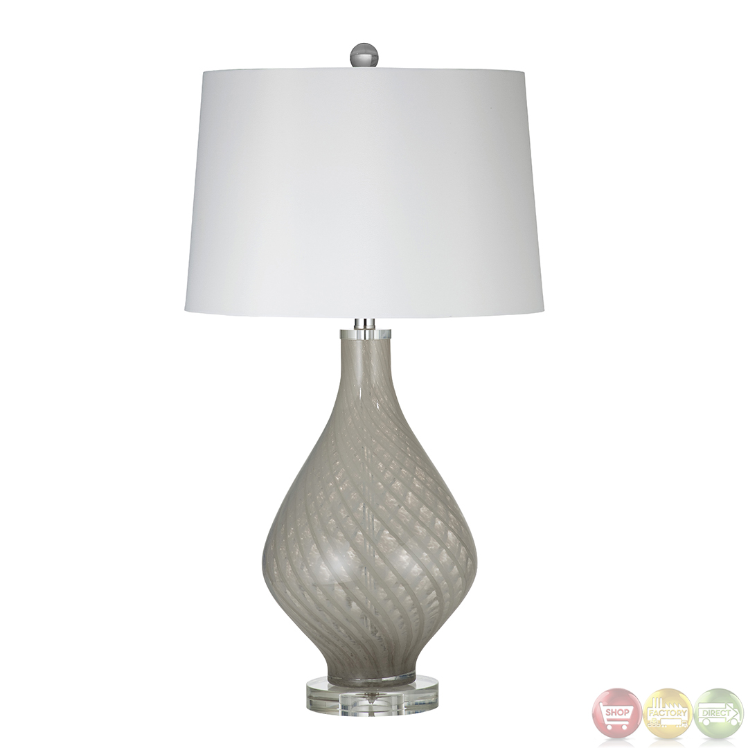 clara beige and clear glass table lamp l2732tec. Black Bedroom Furniture Sets. Home Design Ideas