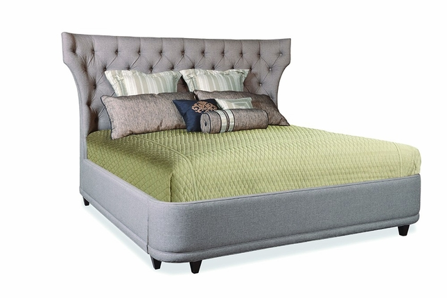 Classics Button Tufted Upholstered Platform King Bed