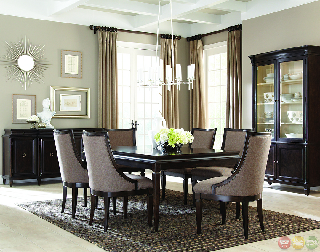 Formal Dining Sets formal contemporary dining room sets with brown finish. classics