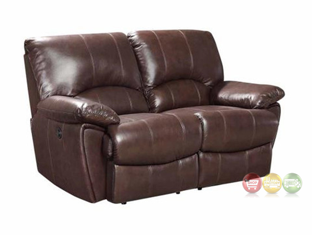 Clifford Dual Reclining Brown Top Grain Leather Motion