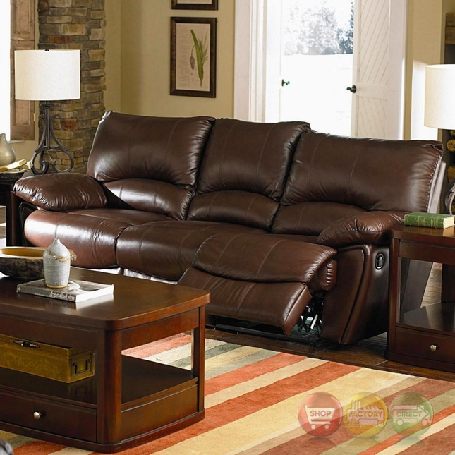 Clifford Dual Reclining Couch Brown Top Grain Leather
