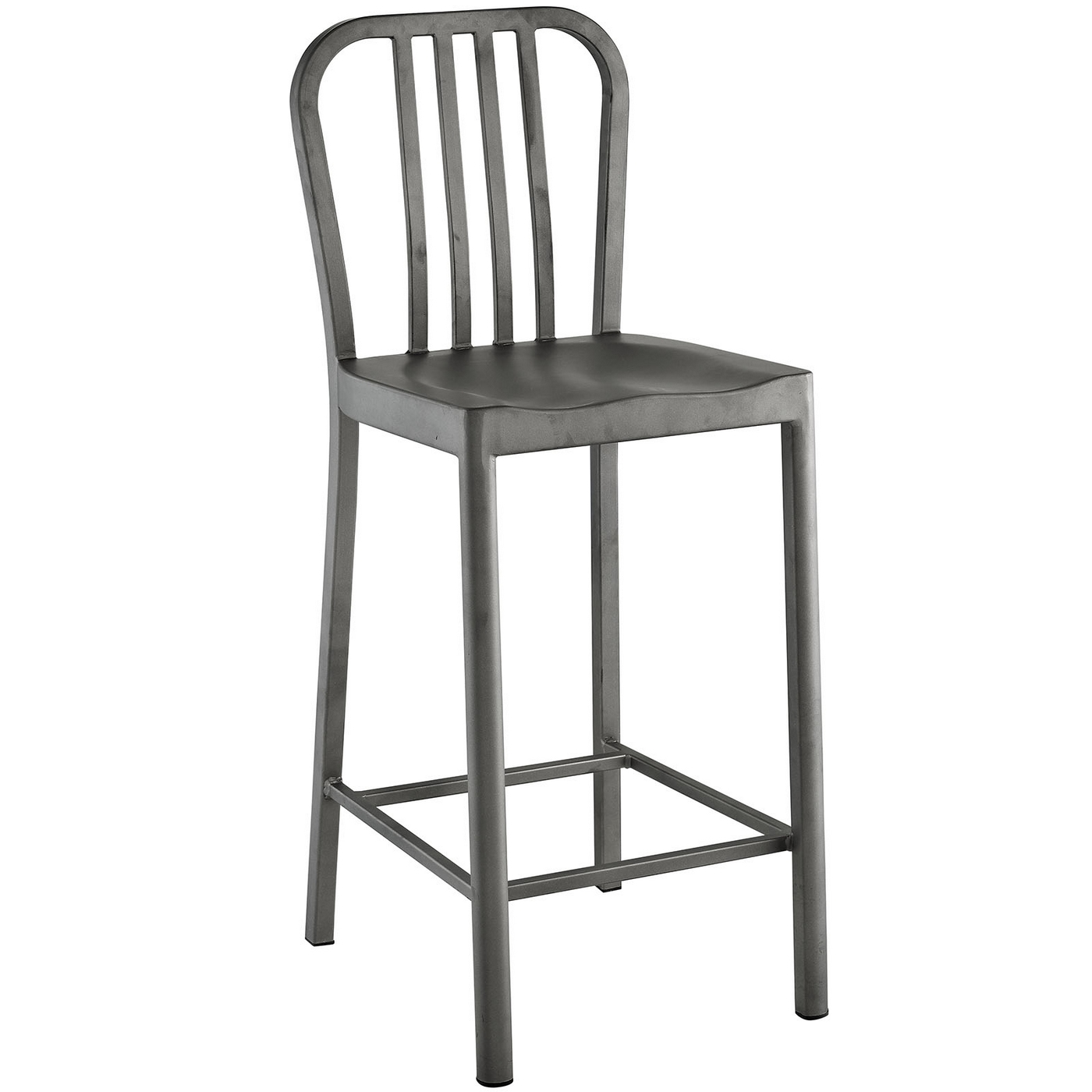 Clink Industrial Counter Height Stool With Brushed Steel  : clink industrial counter height stool with brushed steel finish silver 2 from shopfactorydirect.com size 1400 x 1400 jpeg 221kB