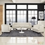 Coast Modern 3-pc Upholstered Sofa & Armchairs Living Room Set, Beige
