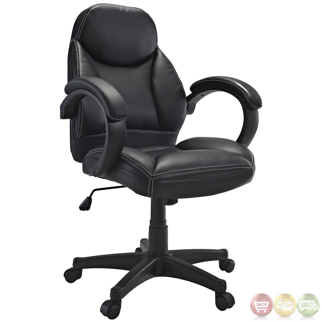Commander Contemporary Modern Mid Back Ergonomic Executive Office Chair With