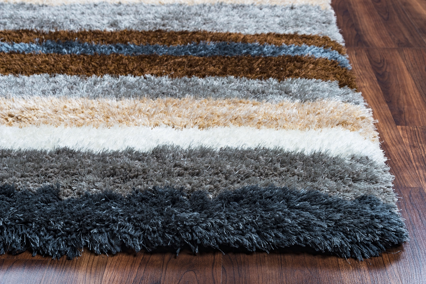 Blue Grey Brown Area Rug Rupec Collection Tufted Area