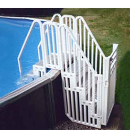 Confer Entry Ladder Locking Above Ground Pool Gate Constepsys