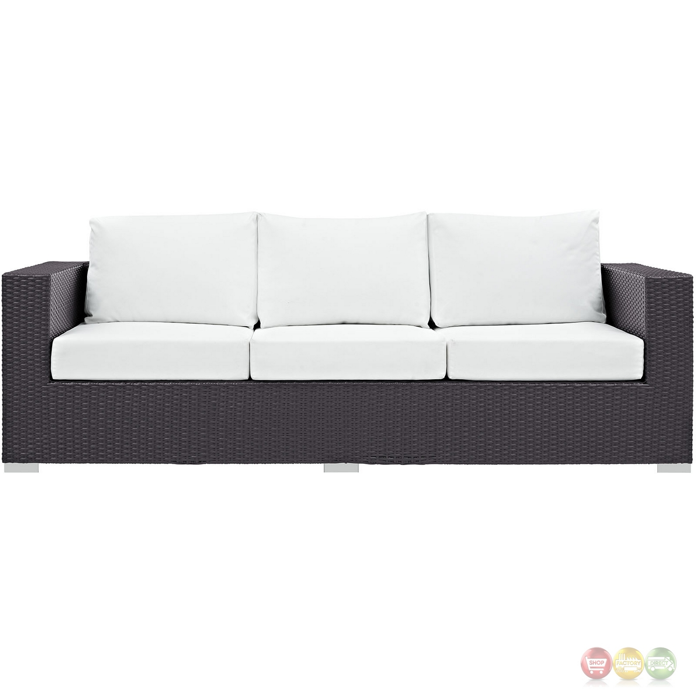 Convene Modular Rattan Outdoor Patio Sofa W/cushions
