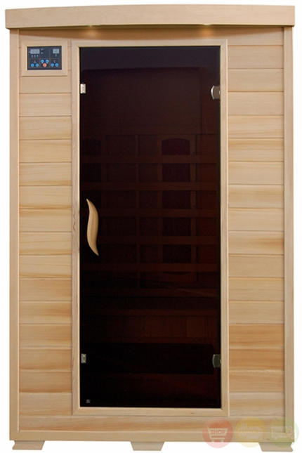 Coronado 2 Person Hemlock Infrared Sauna Ceramic Heaters Stereo HEATWAVE SA2406