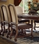 """Coruna 80"""" - 95"""" Double Pedestal 5-pc Dining Set With Upholstered Chairs"""