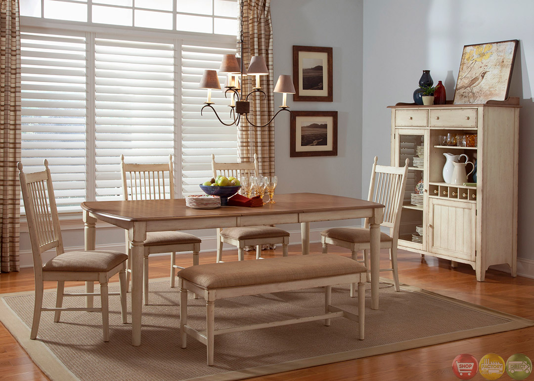 Casual Dining Room Set with Bench