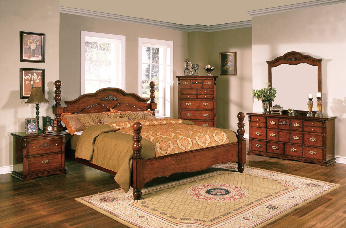 Coventry Solid Pine Rustic Style Bedroom Furniture Set Free Shipping ShopFact