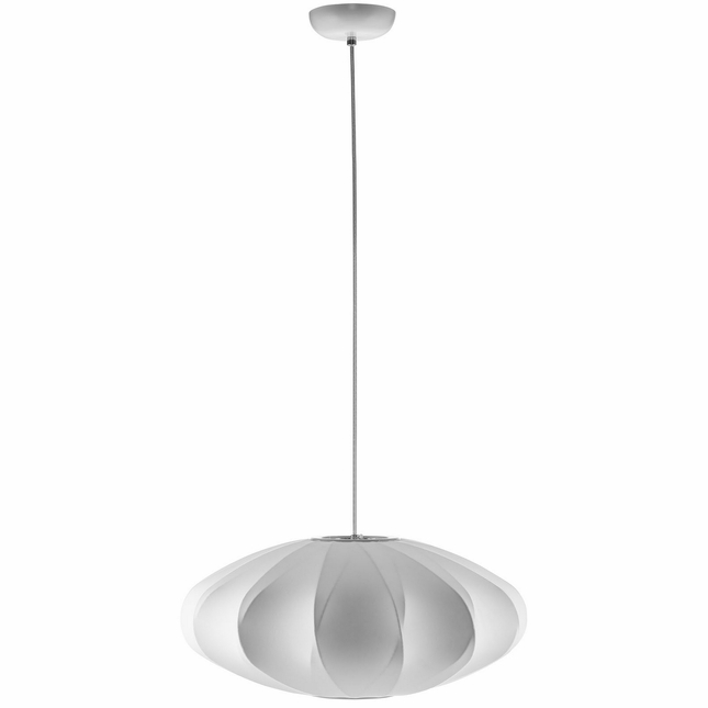 Crest Modern Wire Sculpted With Fabric Surround Pendant Chandelier, White