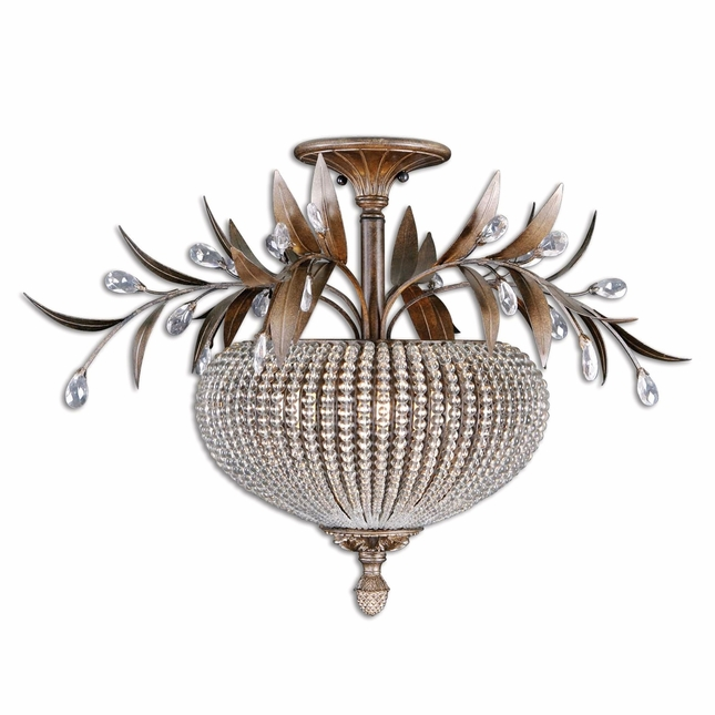 Cristal De Lisbon Contemporary Semi Flush Mount 22221