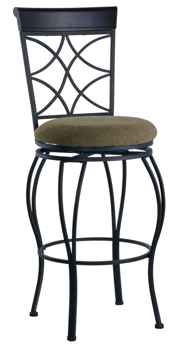 Curves Traditional Counter Height Bar Stool