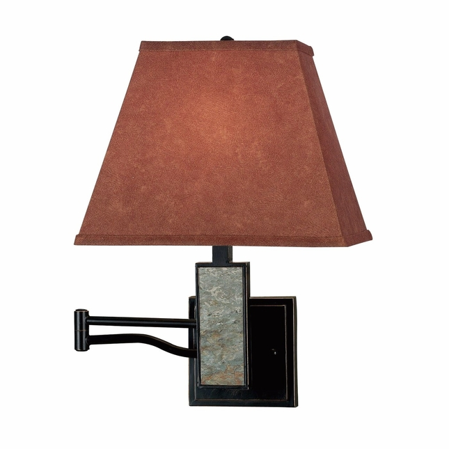 Dakota Bronze 3 Way Socket Switch Wall Swing Arm Lamp