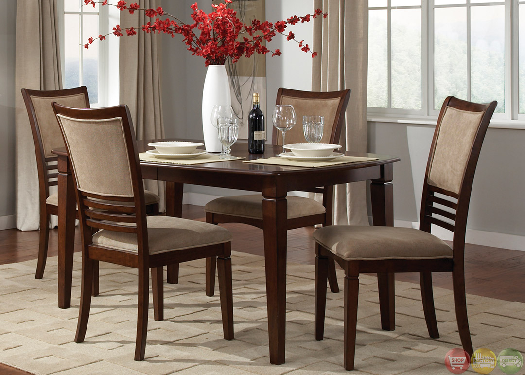 Davenport amaretto finish casual dining room set for Informal dining room sets