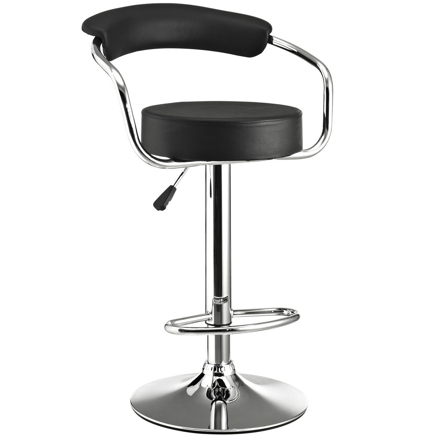 Diner Modern Upholstered Bar Stool W Back Amp Foot Rest In