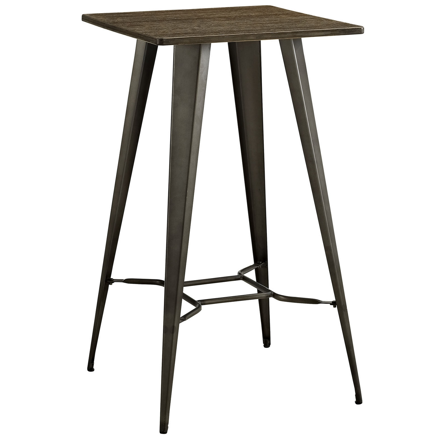 Direct Industrial Bamboo Top Bar Table With Steel Legs Brown