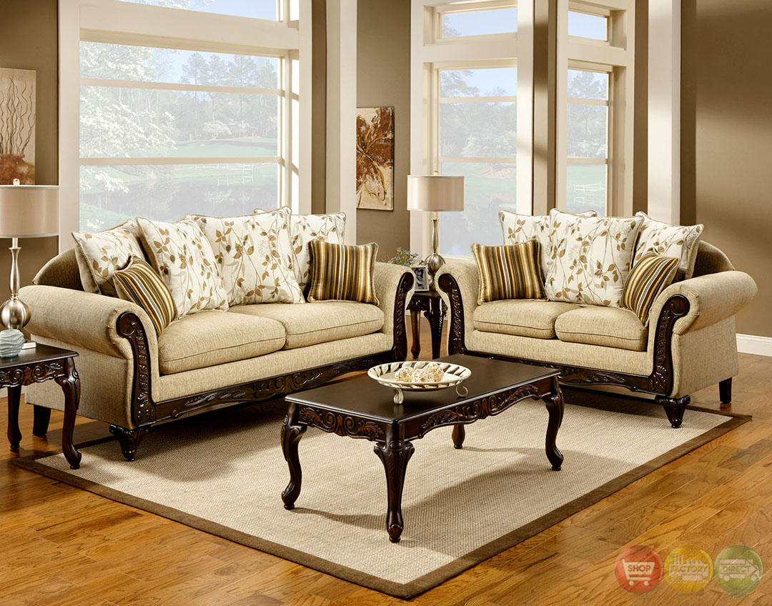 Doncaster Traditional Desert Sand Living Room Set With