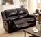 Dorset Traditional Brown Dual Reclining Loveseat In Top Grain Leather