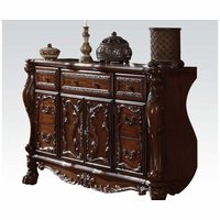 Dresden Antique Style 5-Drawer Cherry Oak Dresser In Light Brown