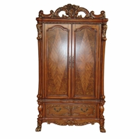 Dresden Antique Style TV Armoire in Traditional Cherry Oak Finish