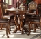 """Dresden Antique Style Wood Top 48"""" Counter Height Table In Cherry Oak Finish"""
