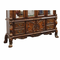 Dresden Carved Wood Antique Style Buffet In Rich Cherry Oak Finish