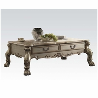 Dresden Traditional 2-drawer Ornate Coffee Table In Antique Gold Patina