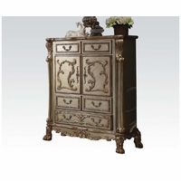 Dresden Traditional Luxury 2-door Ornate Dresser In Gold Patina
