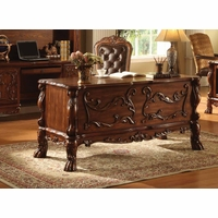 Dresden Traditional Luxury 5-drawer Executive Desk In Rich Cherry Oak