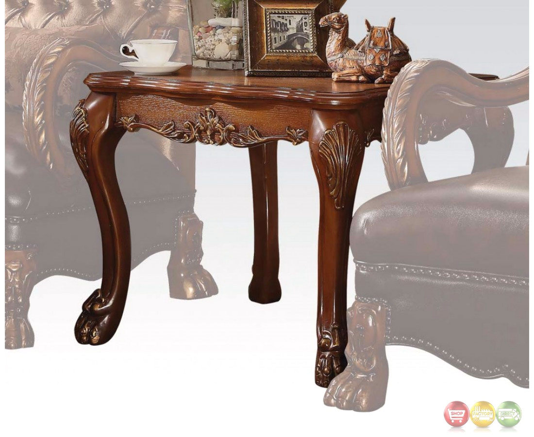 Dresden Traditional Ornate Coffee Table In Antique Cherry Oak