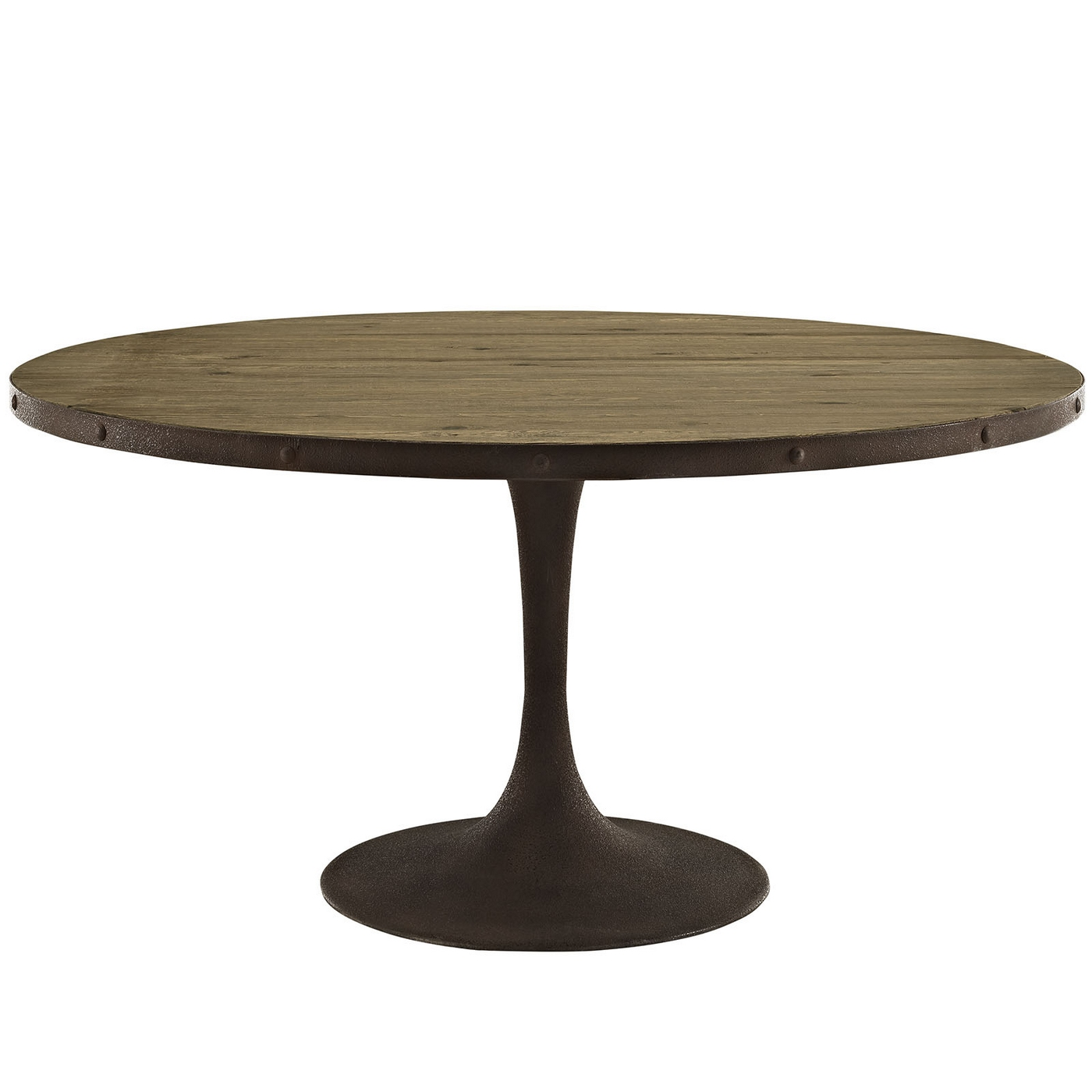 Drive Rustic 60quot Round Wood Top Dining Table W Iron  : drive rustic 60 round wood top dining table w iron pedestal base brown 2 from shopfactorydirect.com size 1400 x 1400 jpeg 243kB