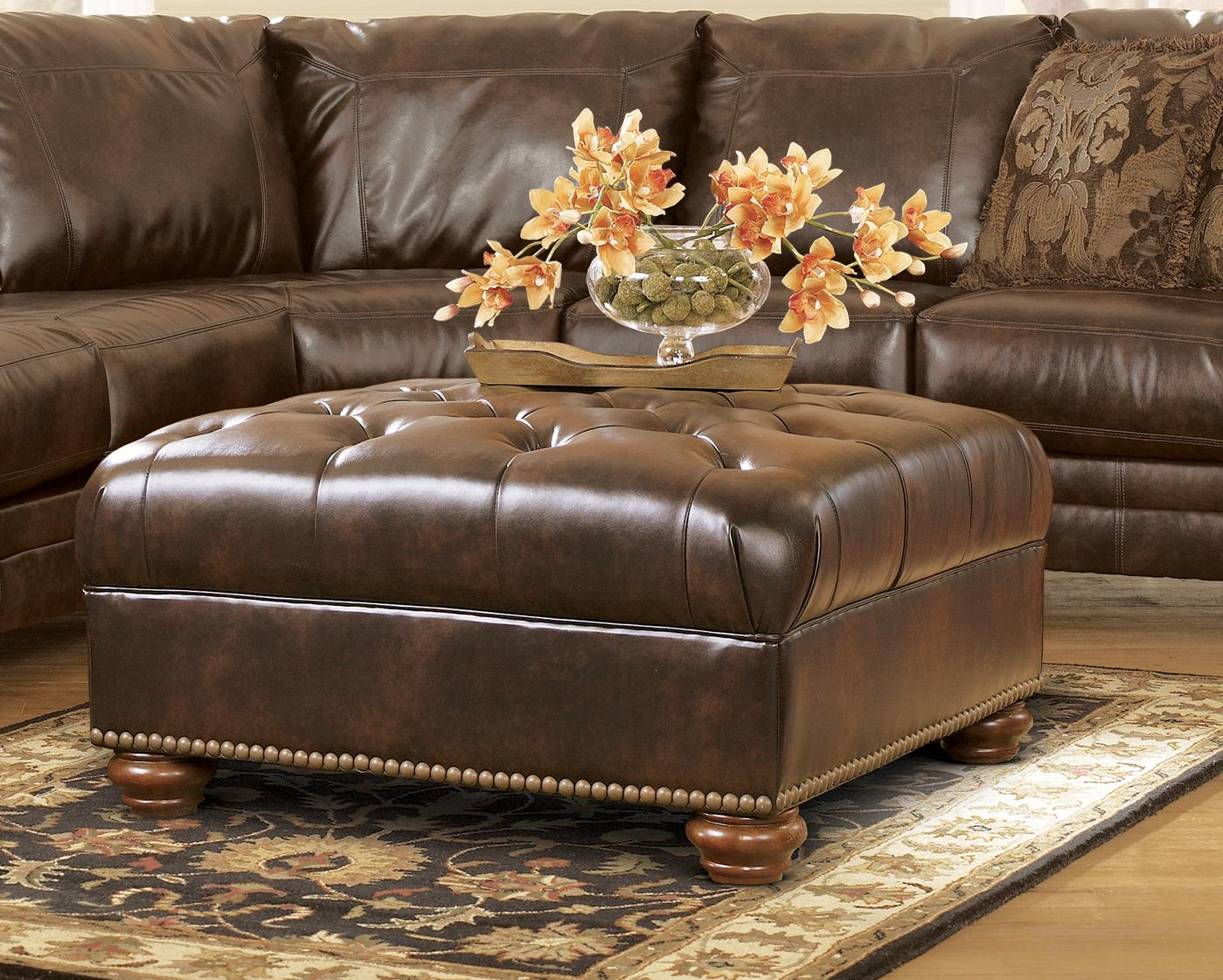 Durablend Traditional Antique Brown Sectional Sofa By Ashley
