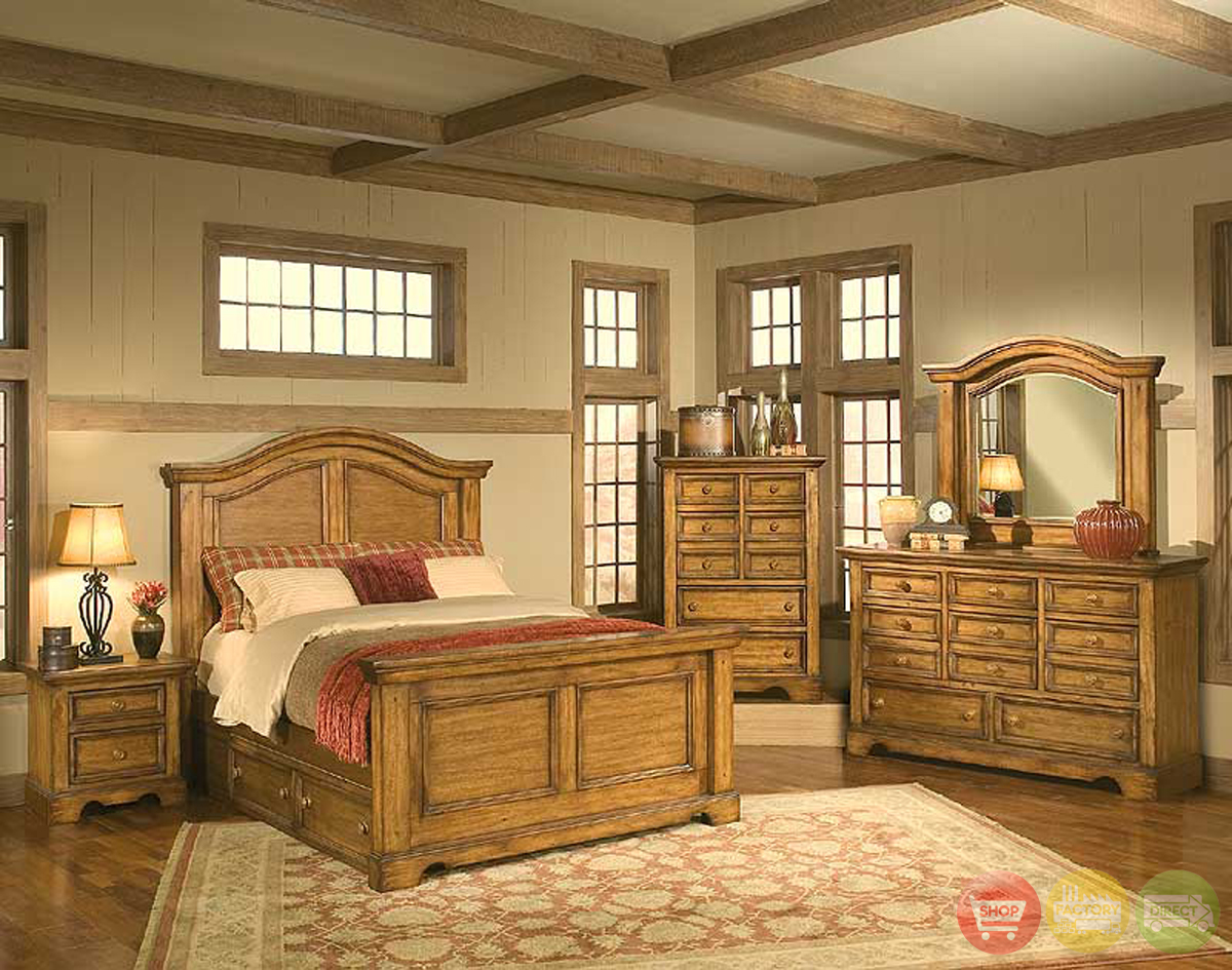 eagles nest rustic style bedroom furniture set american woodcrafters