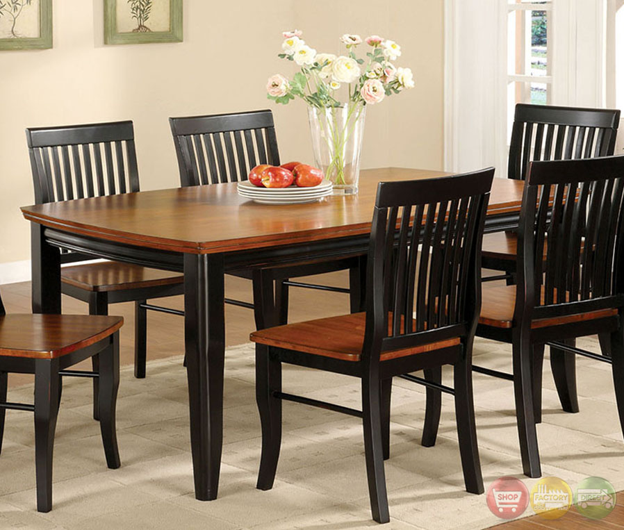Casual Dining Room Sets: Earlham I Mission Antique Black And Oak Casual Dining Set
